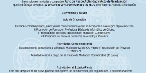 Invitación Acto Graduación